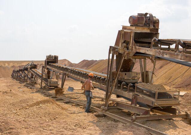 Una mina en Rusia