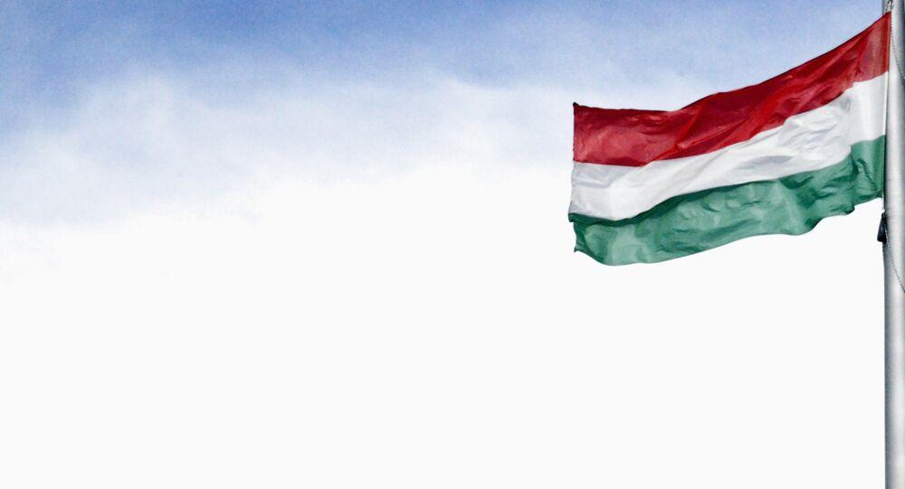La bandera de Hungría