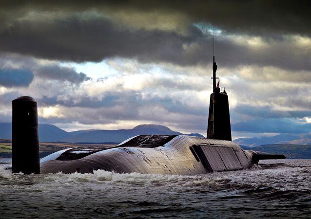 Un submarino nuclear británico de clase Vanguard