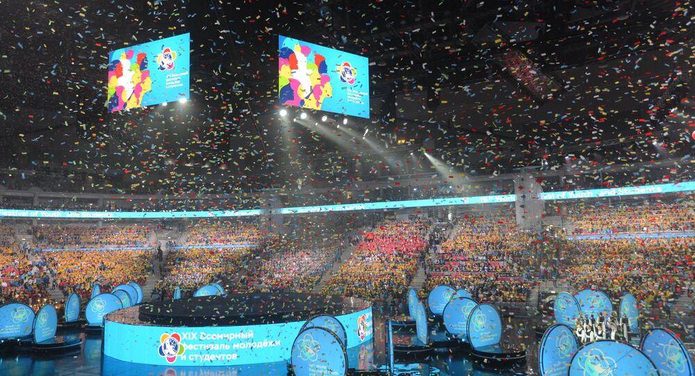 Magnifica ceremonia de apertura del Festival Mundial de Juventud y Estudiantes en Sochi