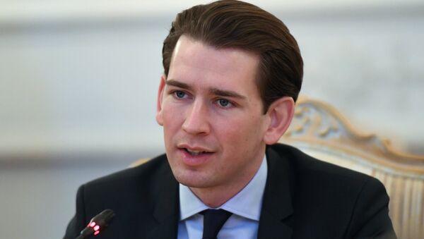 Sebastian Kurz, ministro de Exteriores de Austria y líder del Partido Popular Austriaco (OVP) - Sputnik Mundo