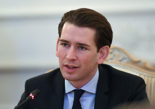 Sebastian Kurz, canciller de Austria (archivo)