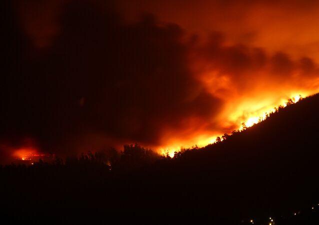 Incendios devoran Galicia en octubre de 2017