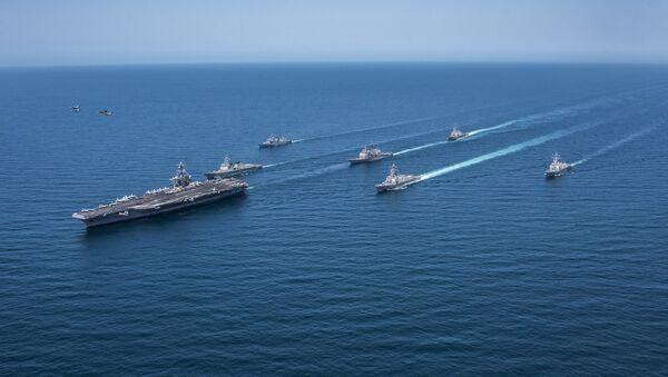 Grupo naval de EEUU y Corea del Sur (archivo) - Sputnik Mundo