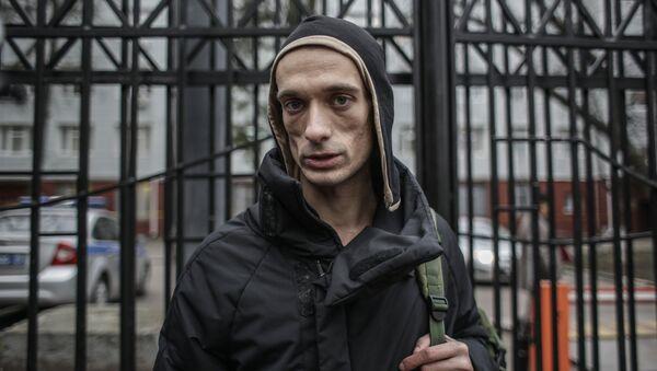 El artista ruso Piotr Pavlenski - Sputnik Mundo