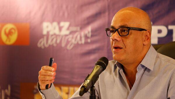 Jorge Rodríguez, presidente del comando de campaña oficialista de Venezuela, Zamora 200 - Sputnik Mundo