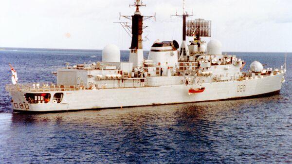 El destructor británico HMS Sheffield en 1982 - Sputnik Mundo
