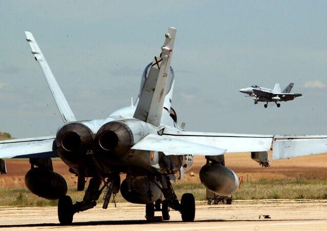 Caza F-18 del Ejército del Aire español (archivo)