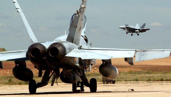 Caza F-18 del Ejército del Aire español (archivo) - Sputnik Mundo