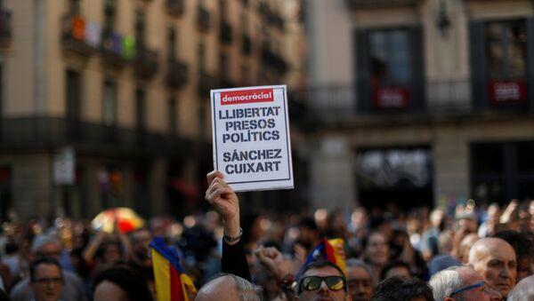 Barcelona acoge concentraciones contra el encarcelamiento de independentistas Jordi Sànchez y Jordi Cuixart - Sputnik Mundo