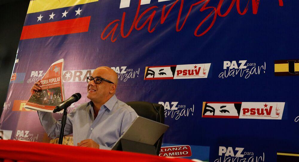 Jorge Rodríguez, alcalde de Caracas, Venezuela