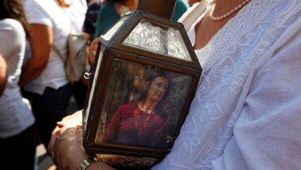 Protestas contra el asesinato de la periodista Daphne Caruana Galizia en Valetta, la capital de Malta - Sputnik Mundo
