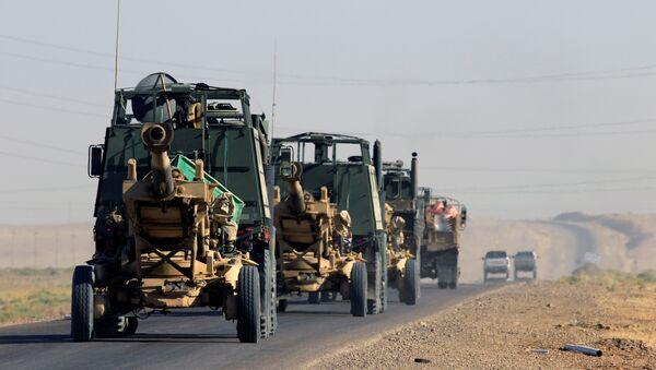 Artillería iraquí en la región de Kirkuk, Irak - Sputnik Mundo