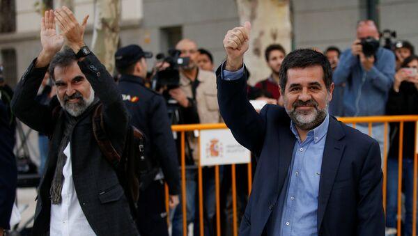 Los presidentes de la Asamblea Nacional Catalana, Jordi Sánchez, y Omnium Cultural, Jordi Cuixart (archivo) - Sputnik Mundo