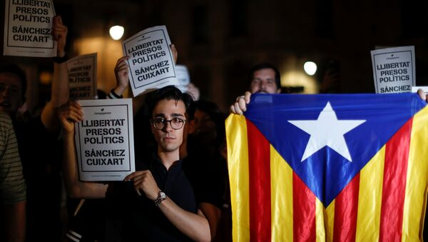 La petición de liberar Jordi Cuixart y Jordi Sànchez acusados de sedición - Sputnik Mundo
