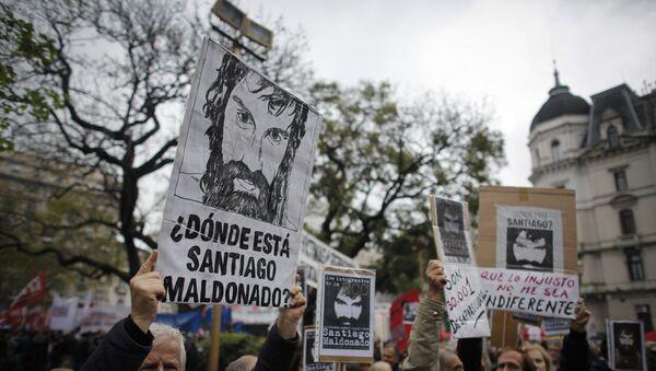 Protestas contra la desaparición del activista argentino Santiago Maldonado  (archivo) - Sputnik Mundo