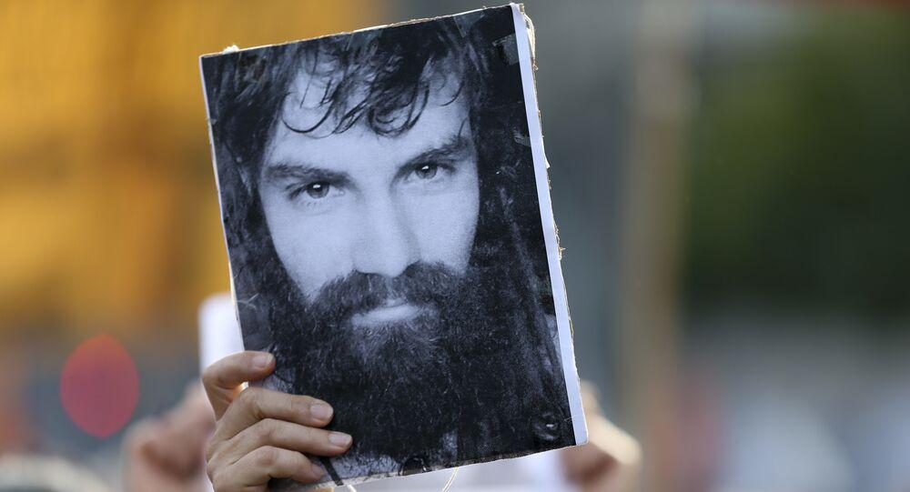 Fotografía del activista argentino Santiago Maldonado (archivo)