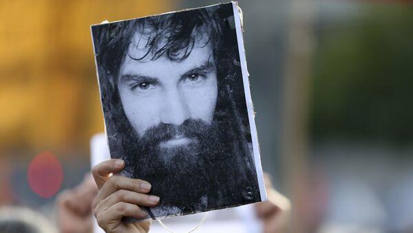 Fotografía del activista argentino Santiago Maldonado - Sputnik Mundo