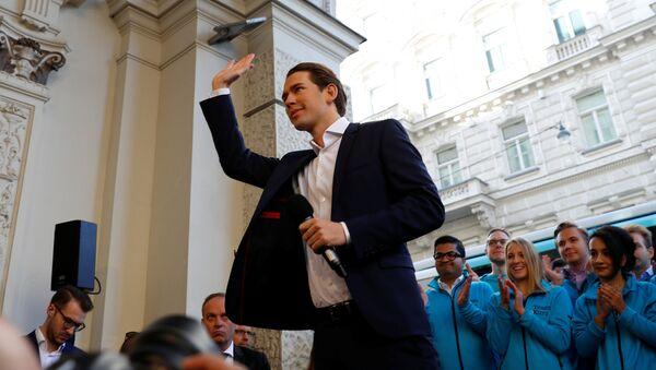 Sebastian Kurz, ministro de Exteriores de Austria - Sputnik Mundo