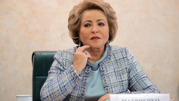 Valentina Matvienko, presidenta del Consejo de la Federación de Rusia - Sputnik Mundo