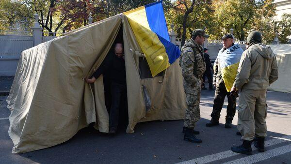 Las acampadas en el centro de Kiev - Sputnik Mundo