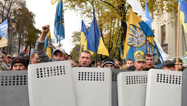 Manifestación en el centro de Kiev, Ucrania - Sputnik Mundo