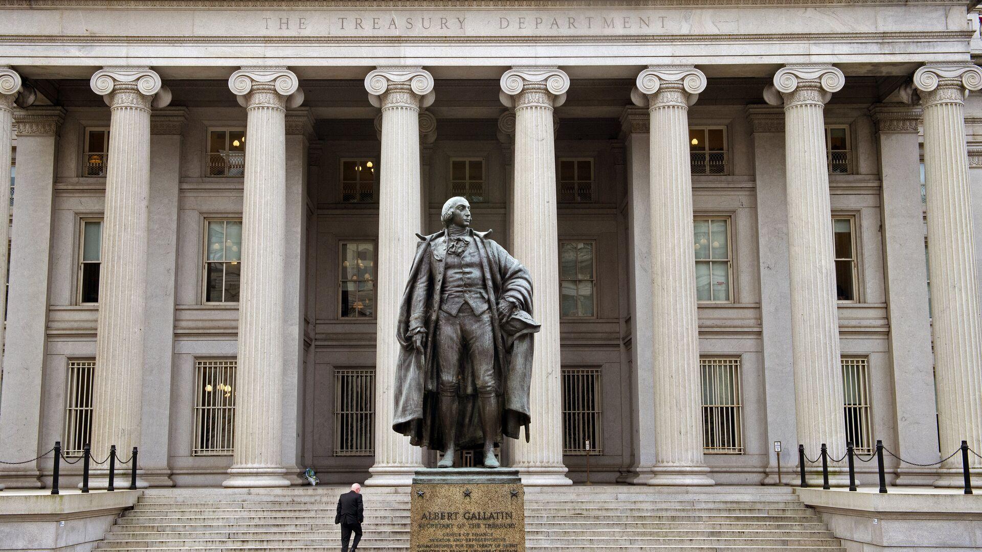 El edificio del Departamento de Tesoro de EEUU - Sputnik Mundo, 1920, 12.05.2021