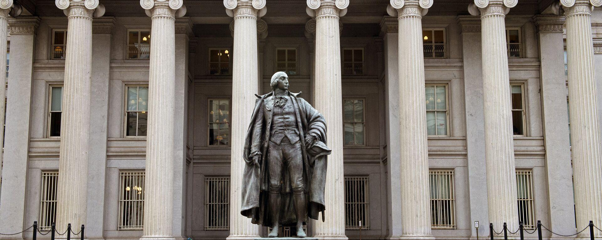 El edificio del Departamento de Tesoro de EEUU - Sputnik Mundo, 1920, 10.06.2021