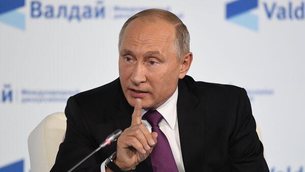 Vladímir Putin, presidente ruso durante la clausura de la 14ª sesión del Club Valdái - Sputnik Mundo