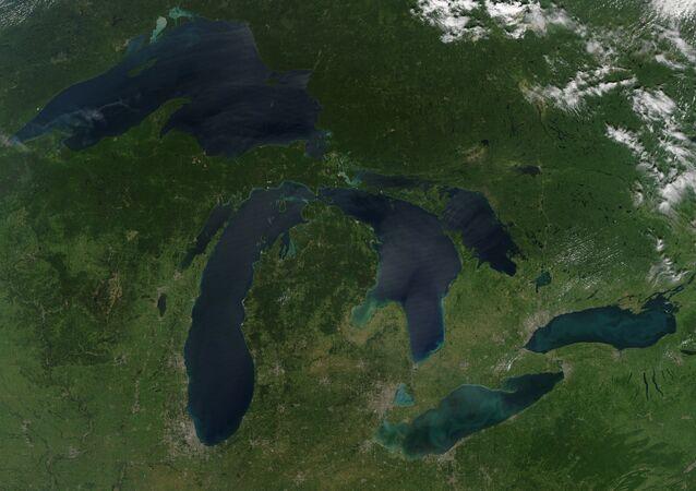 Los Grandes Lagos en la frontera entre EEUU y Canadá