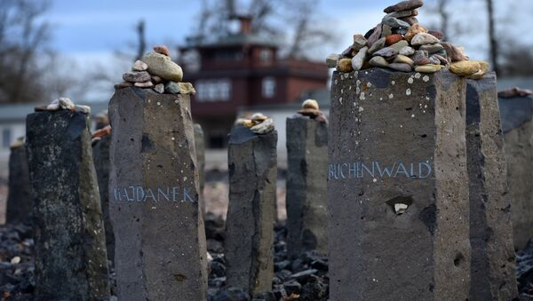 Homenaje a los campos de concentración Majdanek y Buchenwald, Alemania - Sputnik Mundo