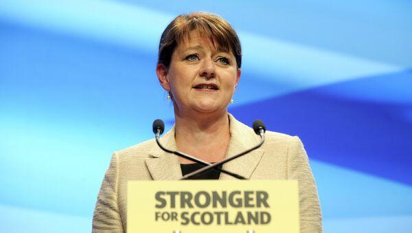 Leanne Wood, líder de Plaid Cymru (El Partido de Gales) - Sputnik Mundo