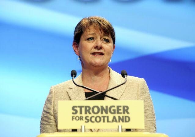 Leanne Wood, líder de Plaid Cymru (El Partido de Gales)