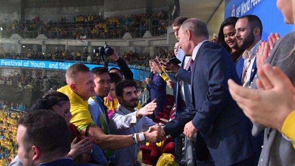 El presidente ruso, Vladímir Putin, en XIX Festival Mundial de la Juventud y los Estudiantes - Sputnik Mundo