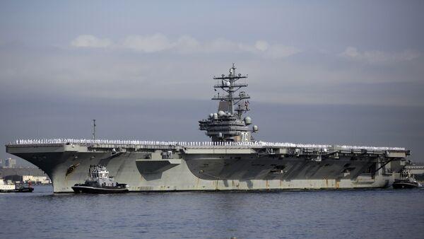 U.S. navy nuclear-powered aircraft carrier USS Ronald Reagan. (File) - Sputnik Mundo