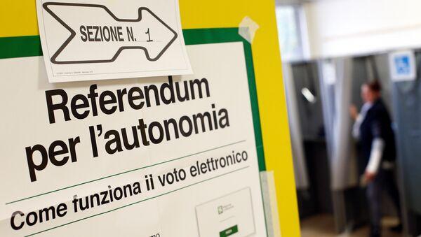 La votación del referéndum de autonomía de Lombardía - Sputnik Mundo