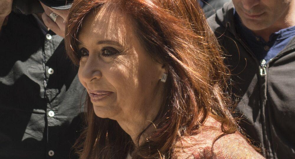 Cristina Fernández de Kirchner, candidata a senadora y expresidenta argentina