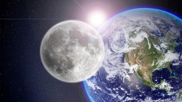 La Luna, la Tierra y el Sol (imagen referencial) - Sputnik Mundo