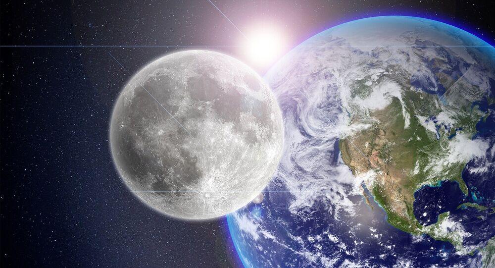 La Luna, la Tierra y el Sol (imagen referencial)