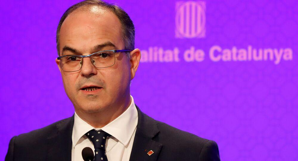El portavoz del Gobierno catalán, Jordi Turull