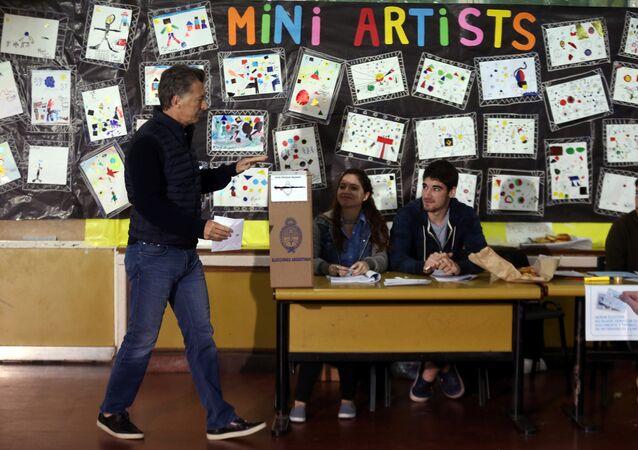 Mauricio Macri, presidente de Argentina, durante las elecciones legislativas