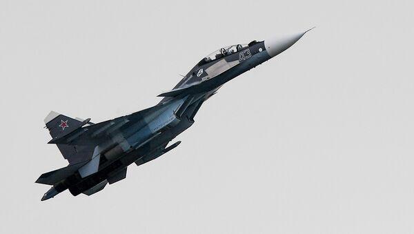 El caza ruso Su-30SM - Sputnik Mundo