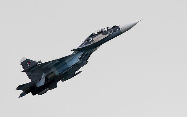 El caza Su-30SM de la Armada rusa.  - Sputnik Mundo