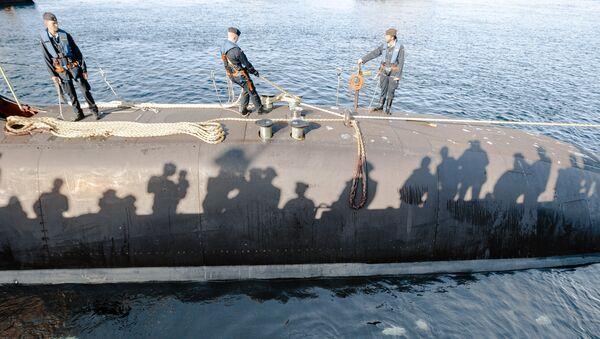 El submarino alemán Tipo 212 en el puerto de Eckernfoerde, Alemania (archivo) - Sputnik Mundo