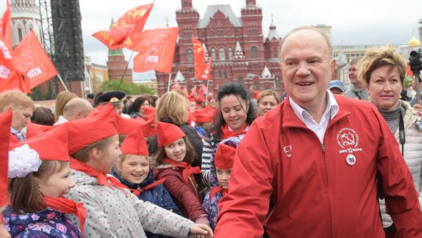Guenadi Ziugánov, líder del Partido Comunista ruso - Sputnik Mundo
