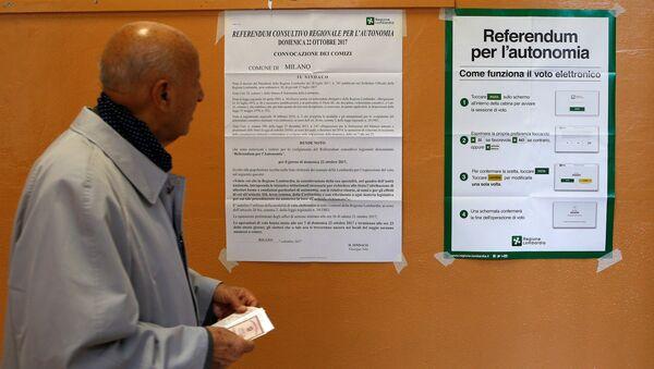 El referéndum de autonomía en Lombardía, Italia - Sputnik Mundo