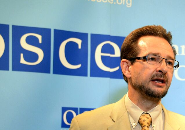 El secretario general de la OSCE, Thomas Greminger