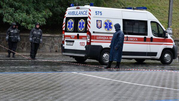 Ambulancia ucraniana en Kiev - Sputnik Mundo