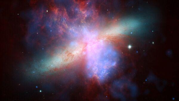 Una galaxia (imagen referencial) - Sputnik Mundo