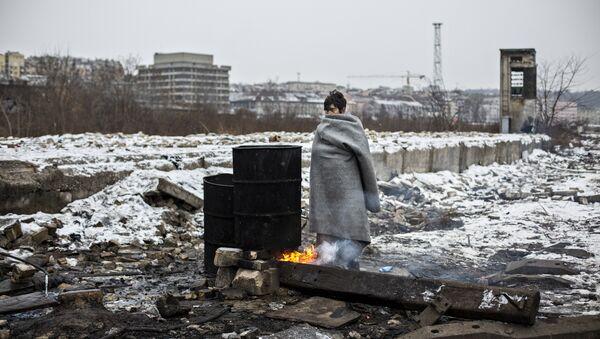 «Migrantes en Belgrado» de Alejandro Martínez Vélez - Sputnik Mundo